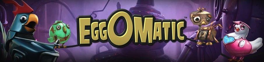 Eggomatic online slots game logo