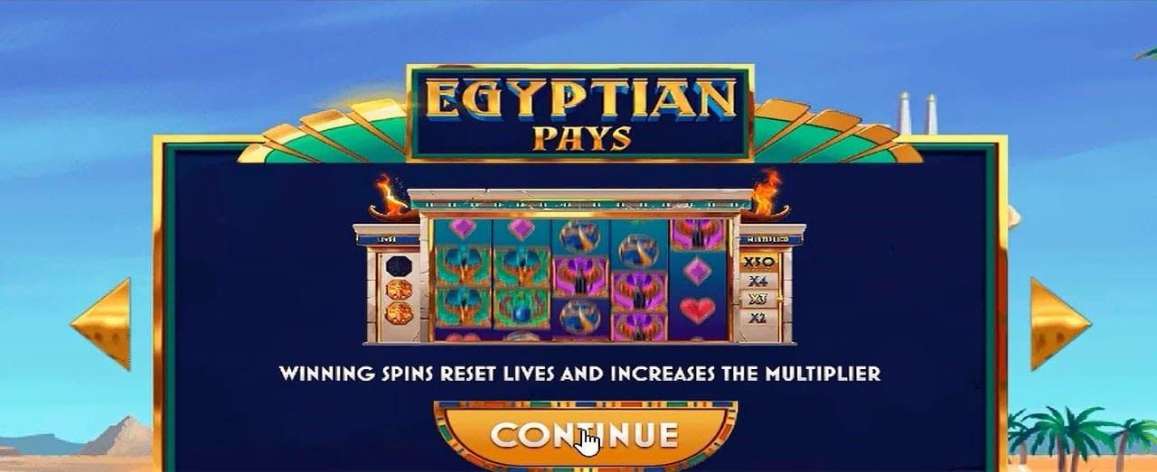 Egyptian Pays Bonus Features Slot