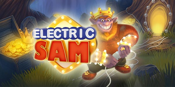 Electric Sam online slots game logo