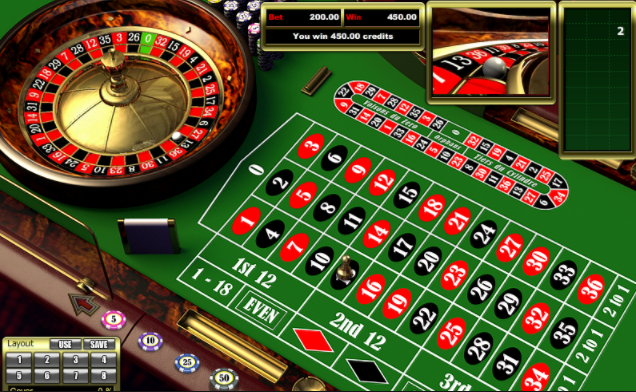 European Roulette casino gameplay