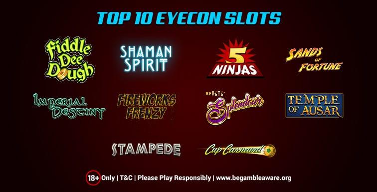 best Eyecon slots UK