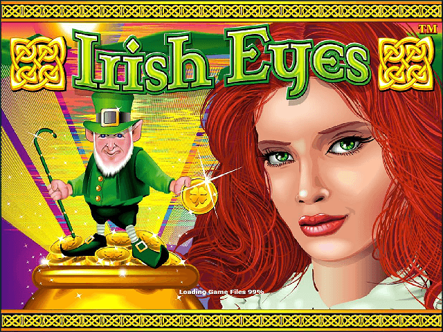 Irish Eyes online slots game logo