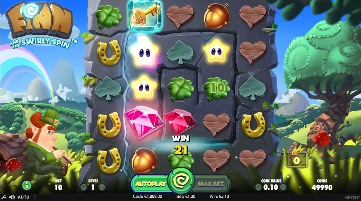 Finn and the Swirly Spinn online slots game gameplay