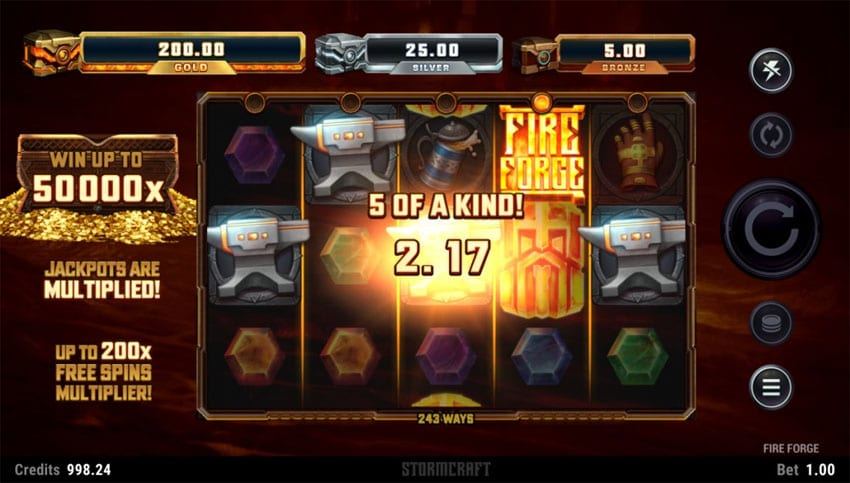 Fire Forge Slots Reels