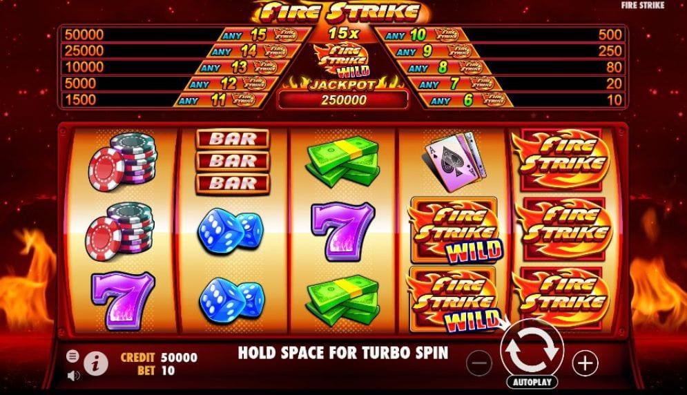 Fire Strike Slot Gameplay