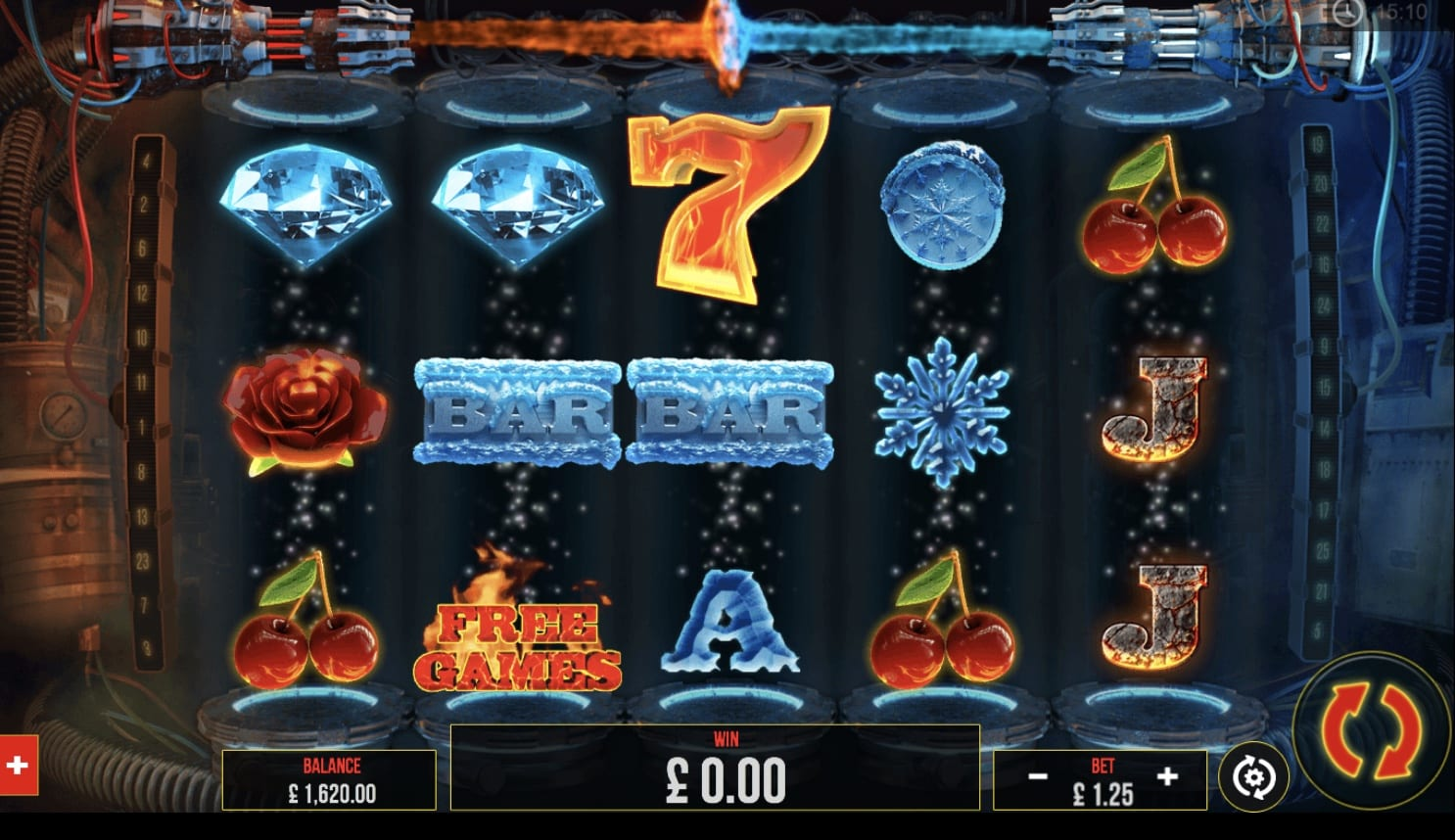 Fire vs Ice online slots game gameplay