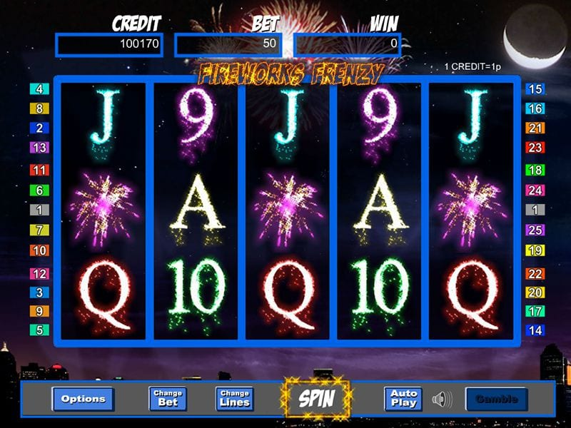 Fireworks Frenzy Online Slots Gameplay