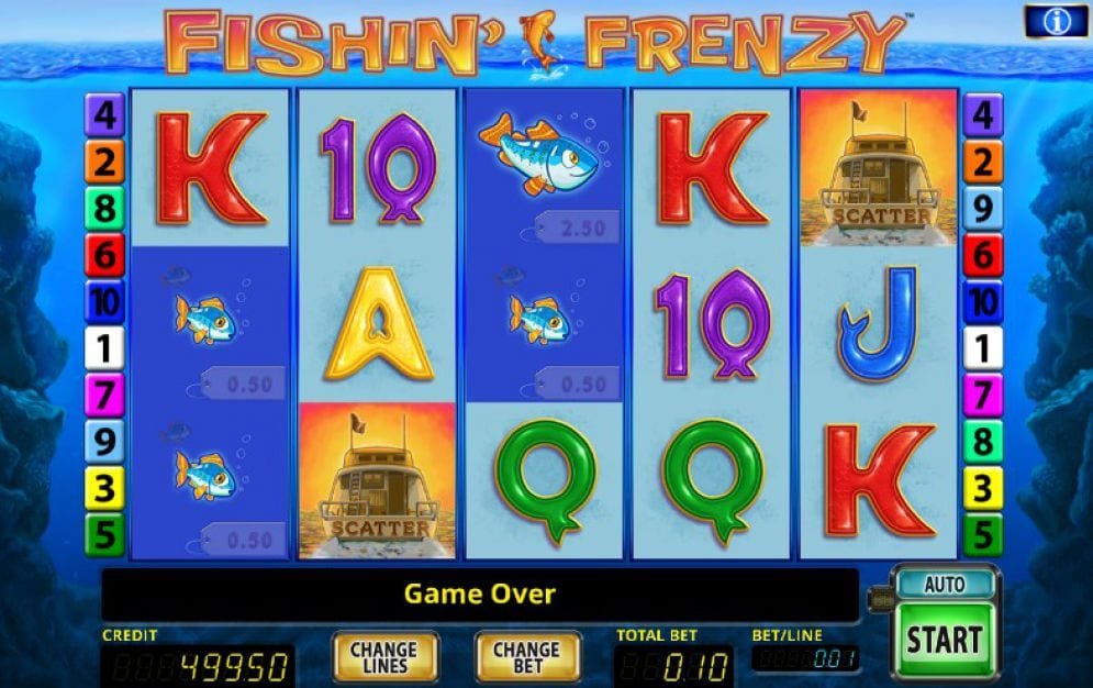 Fishin' Frenzy gameplay casino