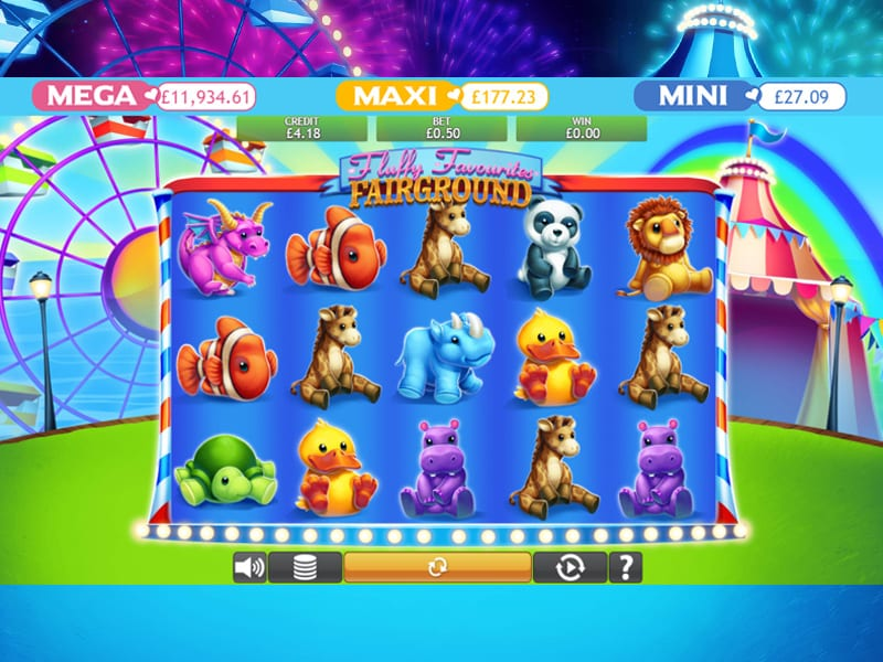 Fluffy Favourites Fairground online slots game gameplay