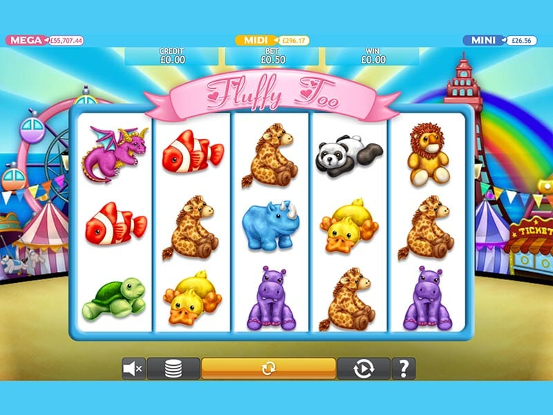 Fluffy Too Jackpot online slots game gameplay