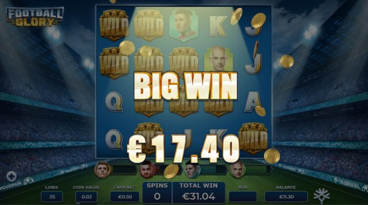 Football Glory Slot Big Win