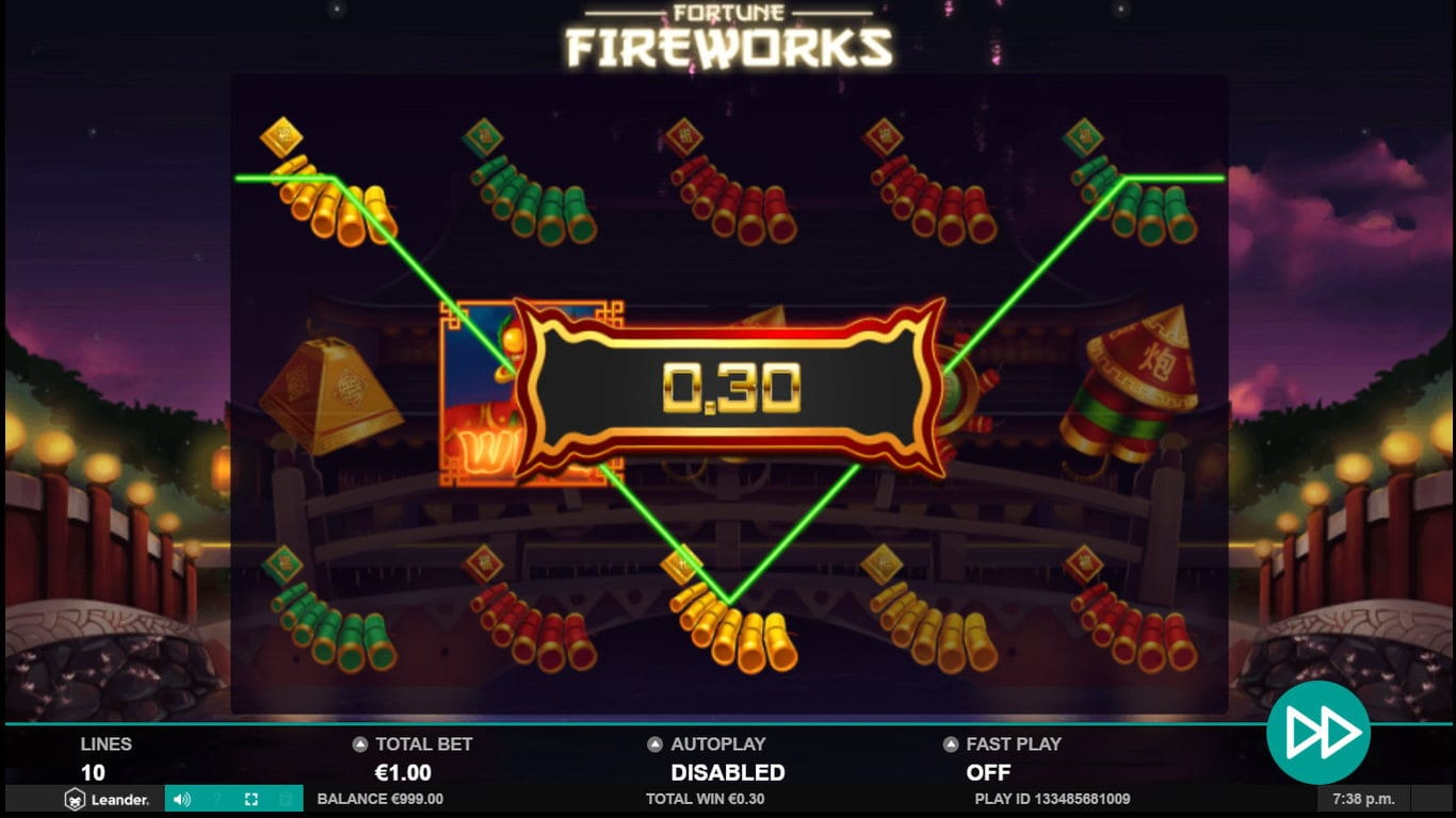 Fortune Fireworks Slots Win