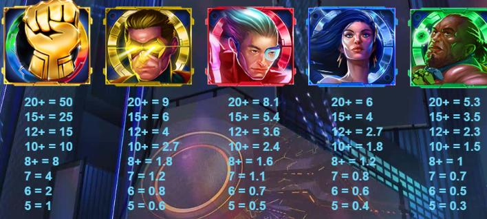4 Squad Slot Symbols