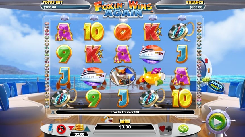 Foxin Wins Again online slots game gameplay