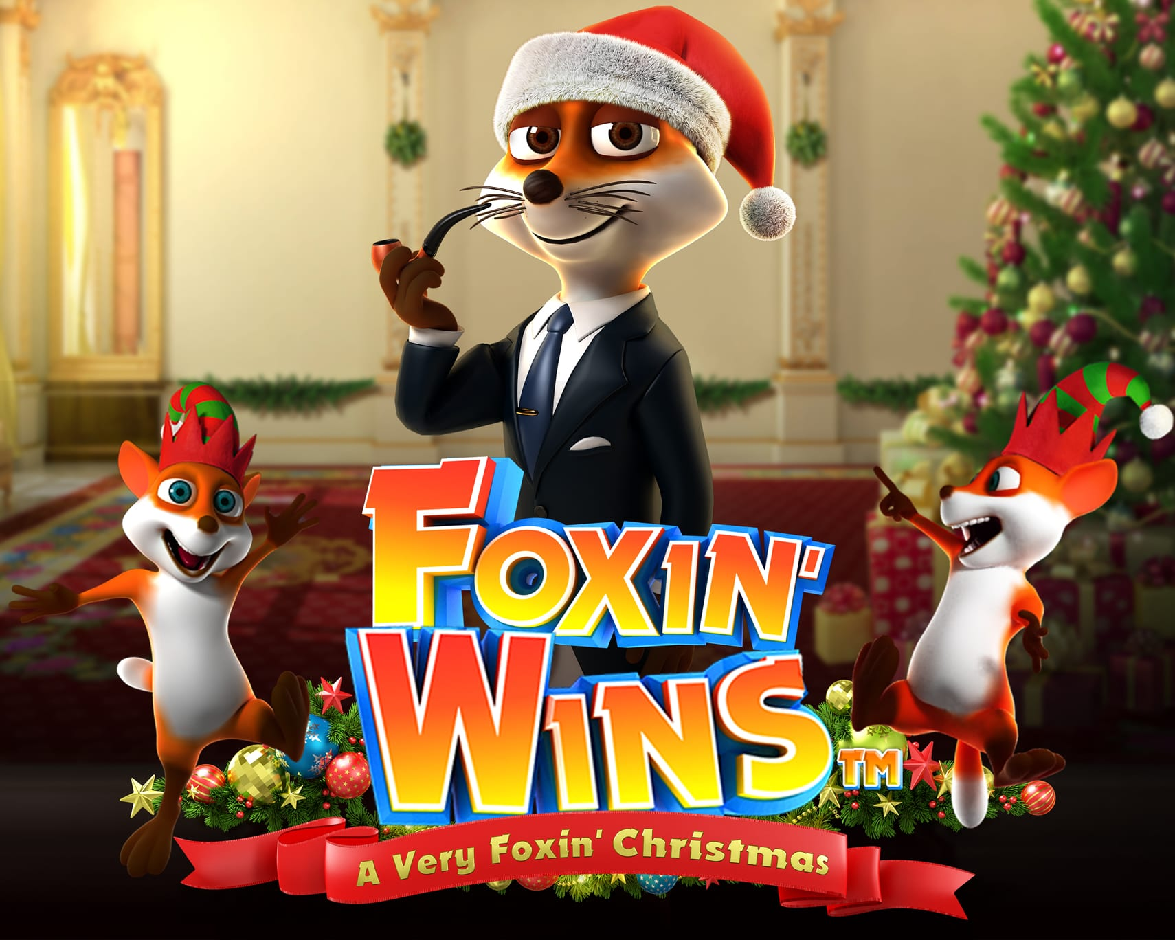 Foxin Wins Christmas Logo