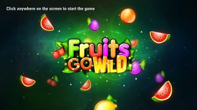 Fruits Go Wild Slot Logo Wizard Slots