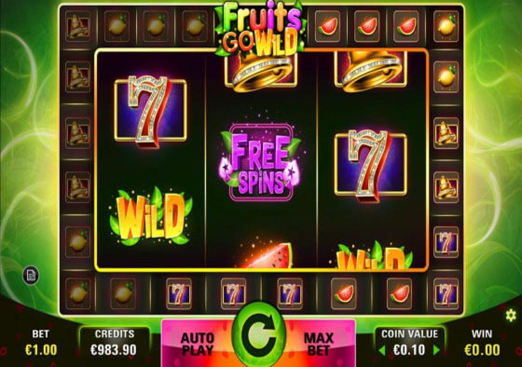 Fruits Go Wild Slot Gameplay