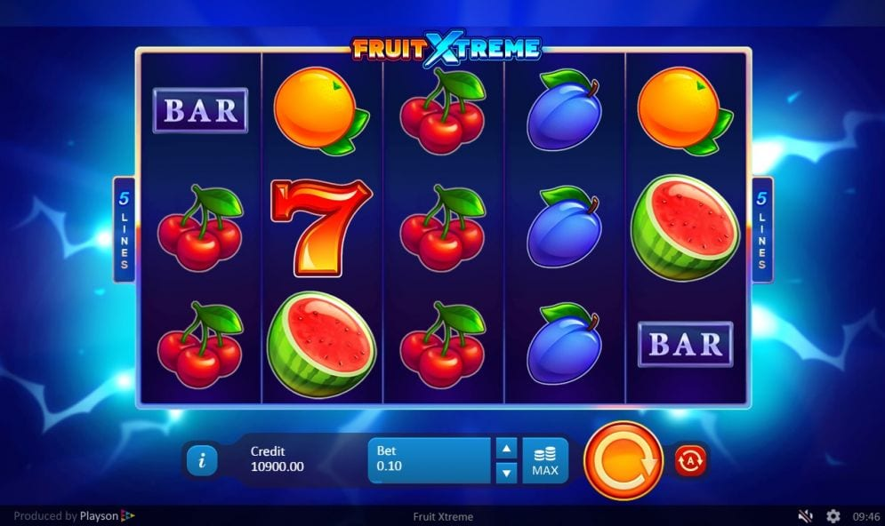 Fruit Xtreme: 5 Lines Slots UK