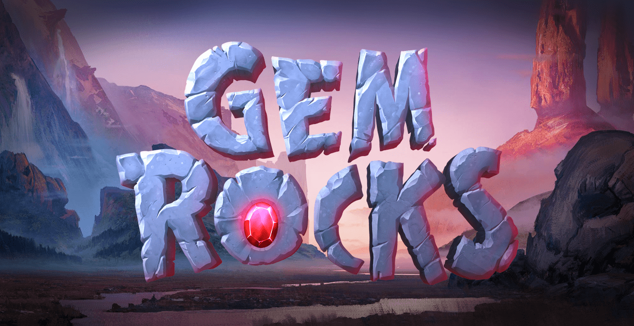 gem rocks slots game logo