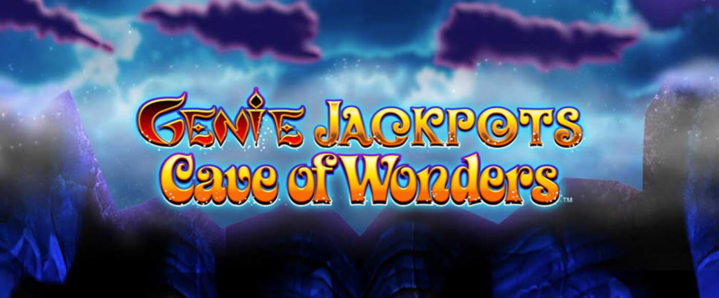 Genie Jackpots Cave of Wonders Slot Game Logo