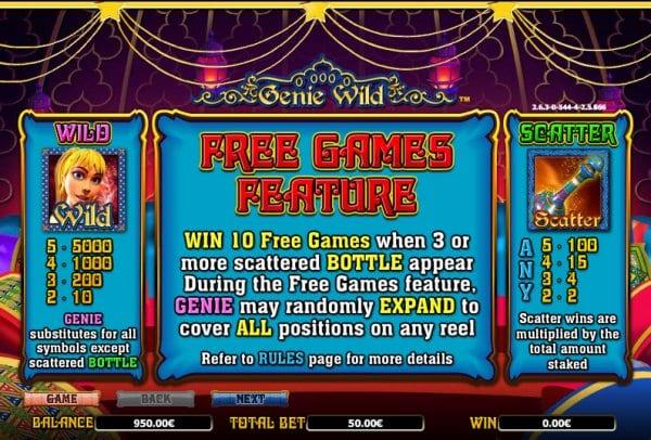 Genie Wild Free Games