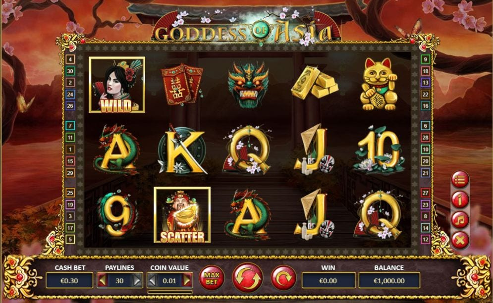 Goddess of Asia Slots Reels