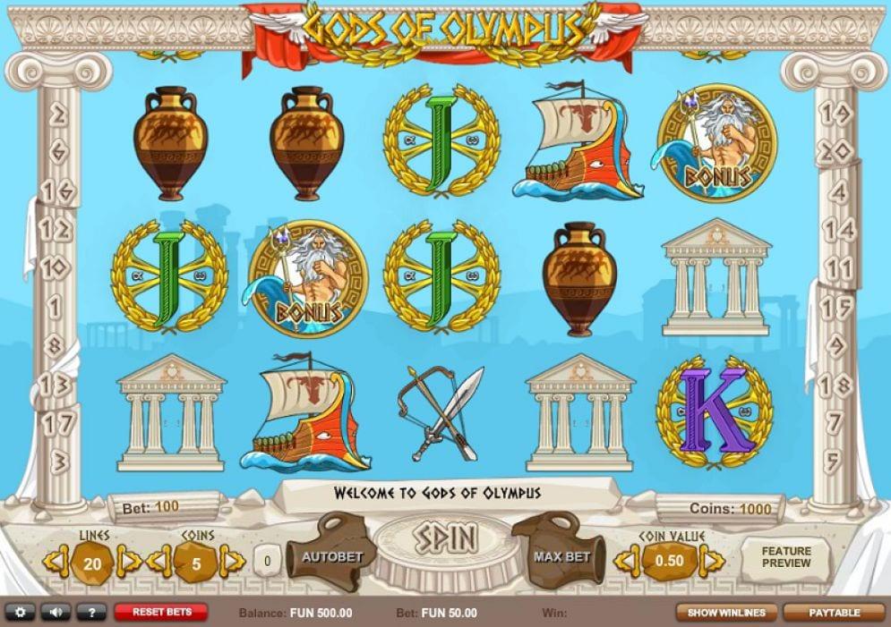 Gods of Olympus gameplay