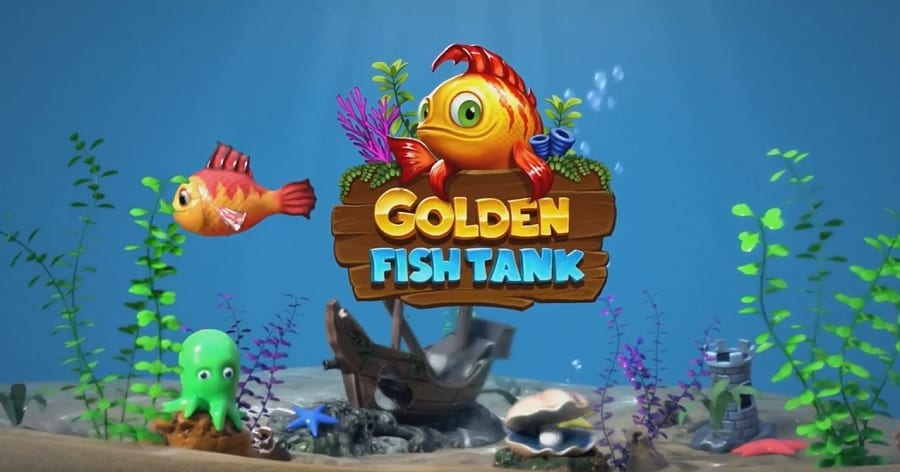 Golden Fishtank online slots game logo