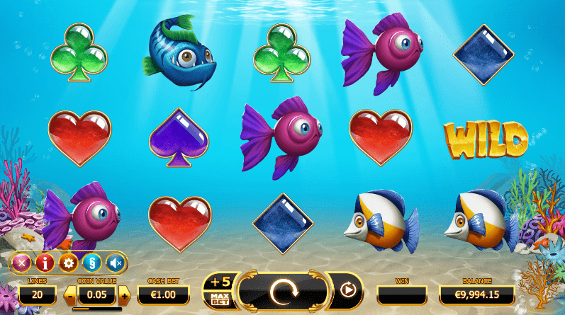 Golden Fishtank online slots game gameplay
