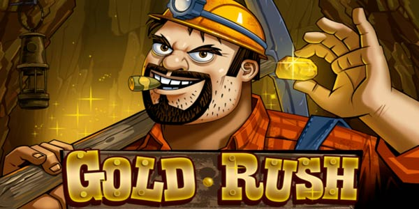 Gold Rush online slots game logo
