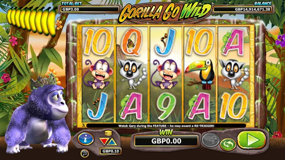 Gorilla Go Wild Free Slots