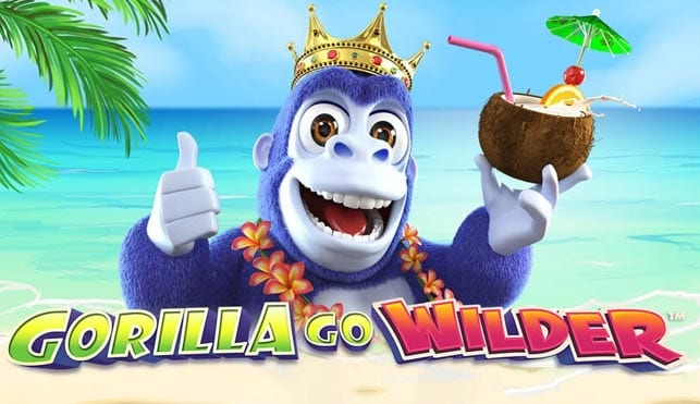 King gorilla with a coconut drink with logo of Gorilla Go Wilder