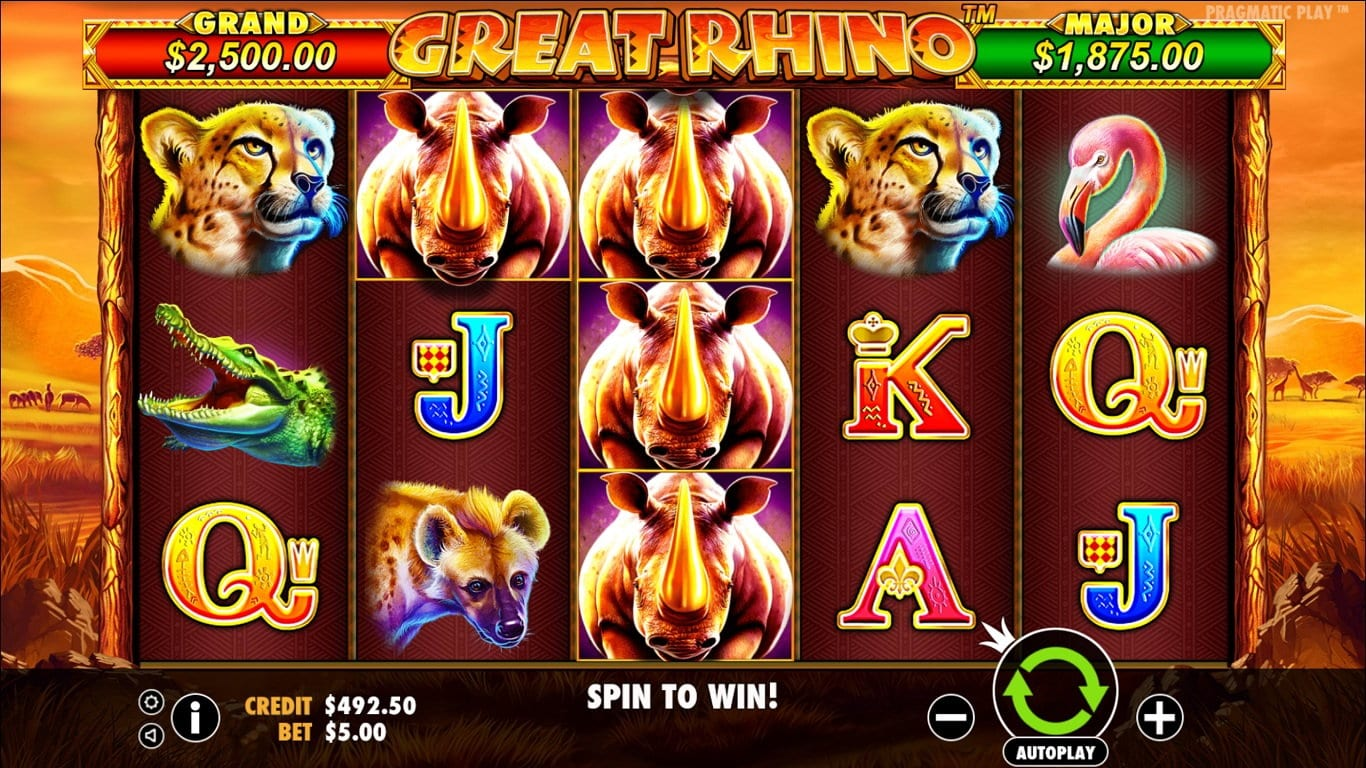 great rhino slots gameplay