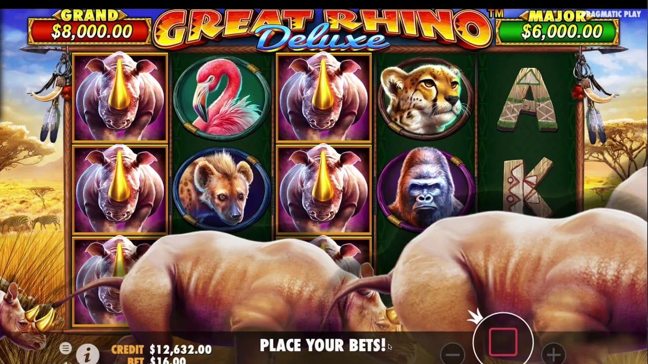 Great Rhino Deluxe Slot Games