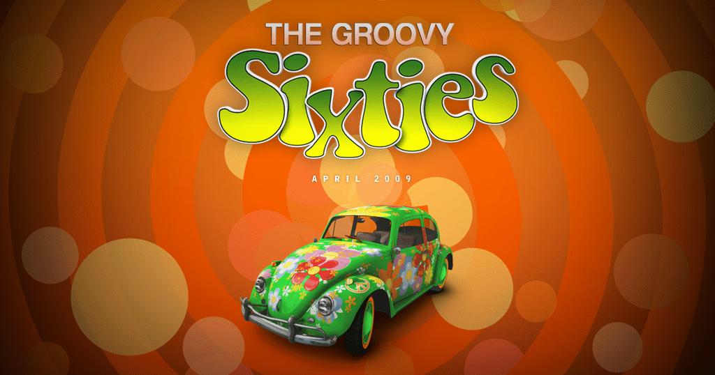 Retro Groovy 60's online slots game logo