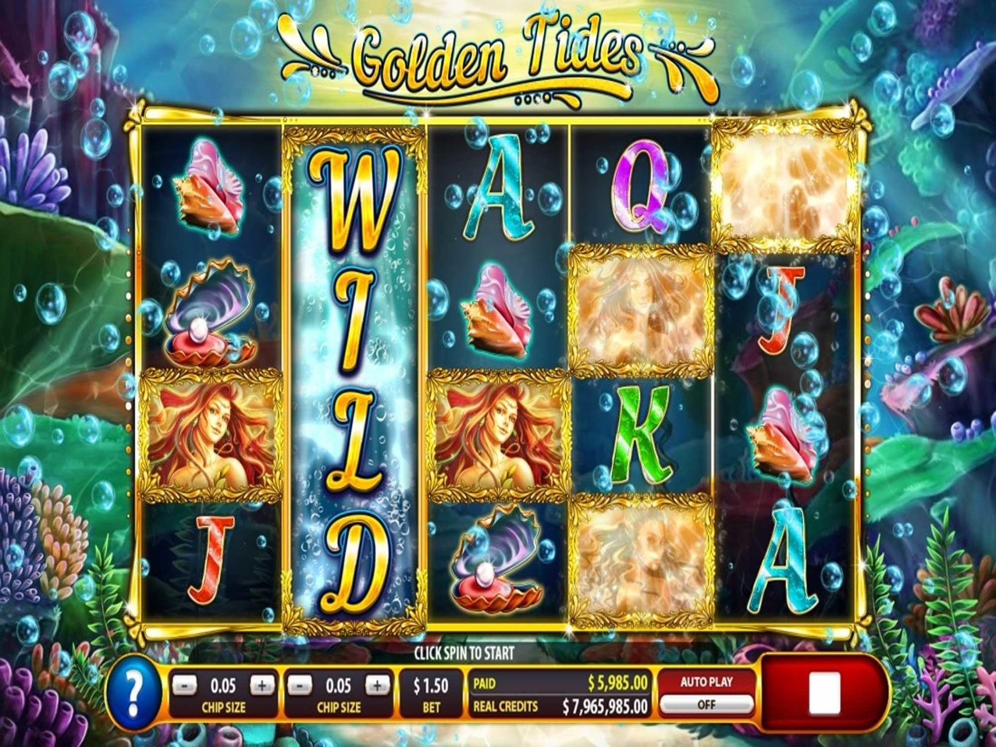 Golden Tides Gameplay Casino