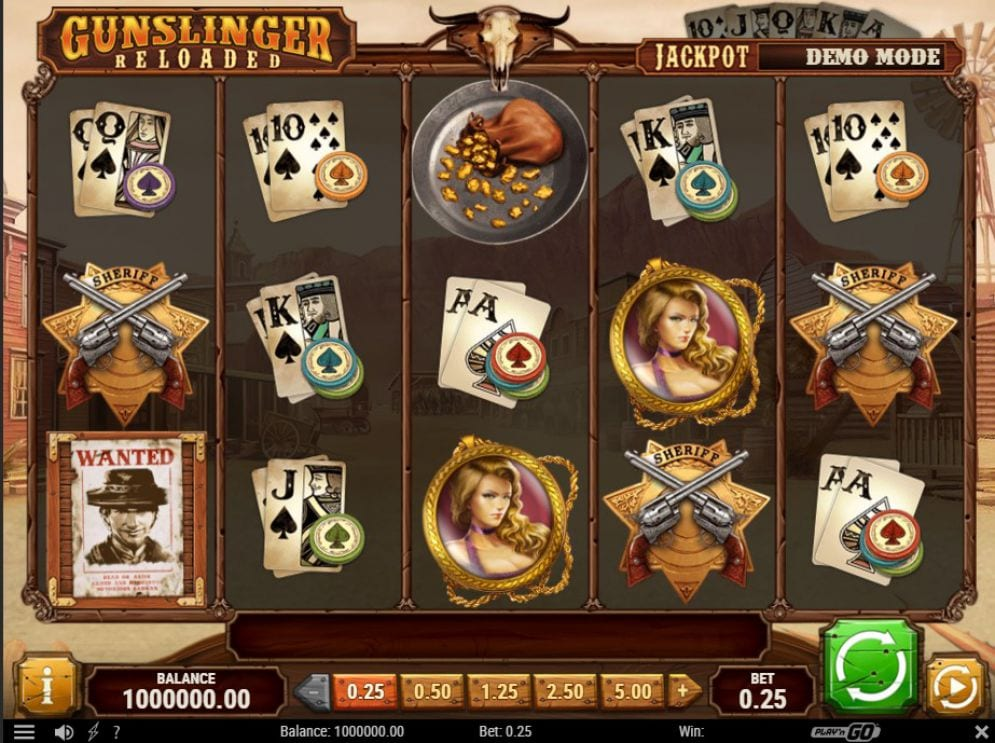 Gunslinger Slots Gameplay