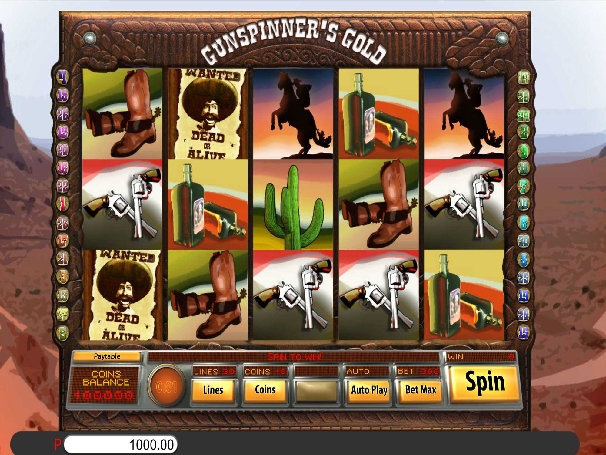 Gunspinners Gold Slot Game