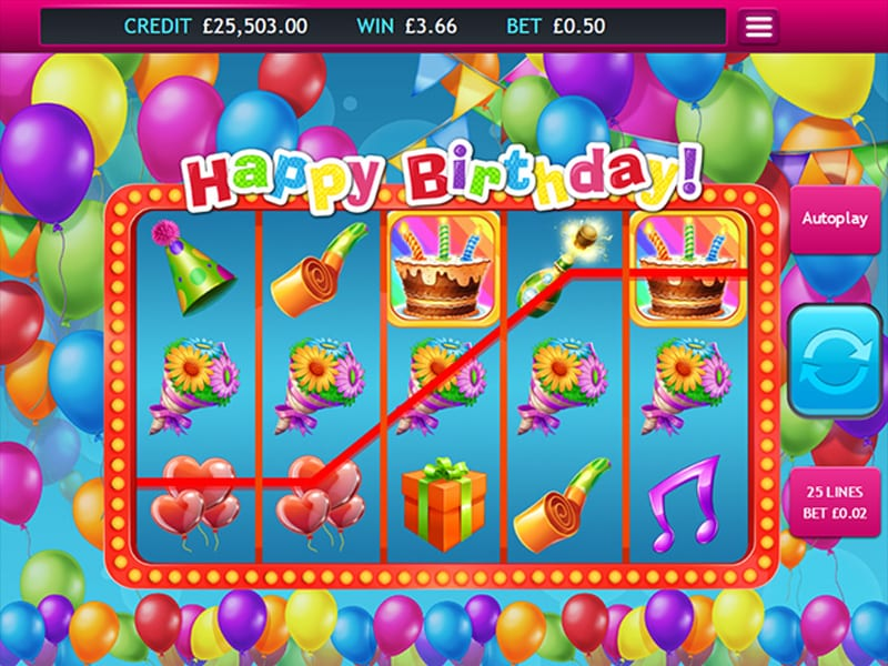 Happy Birthday slots gameplay