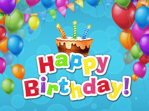 Happy Birthday online slots game logo