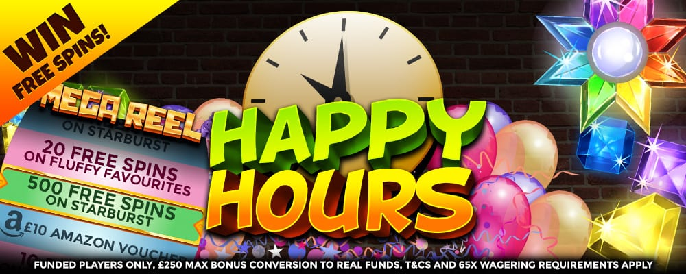 happy hour - wizard slots promotion
