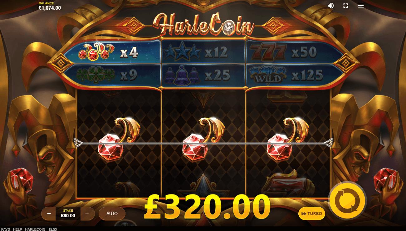 Harlecoins slots win