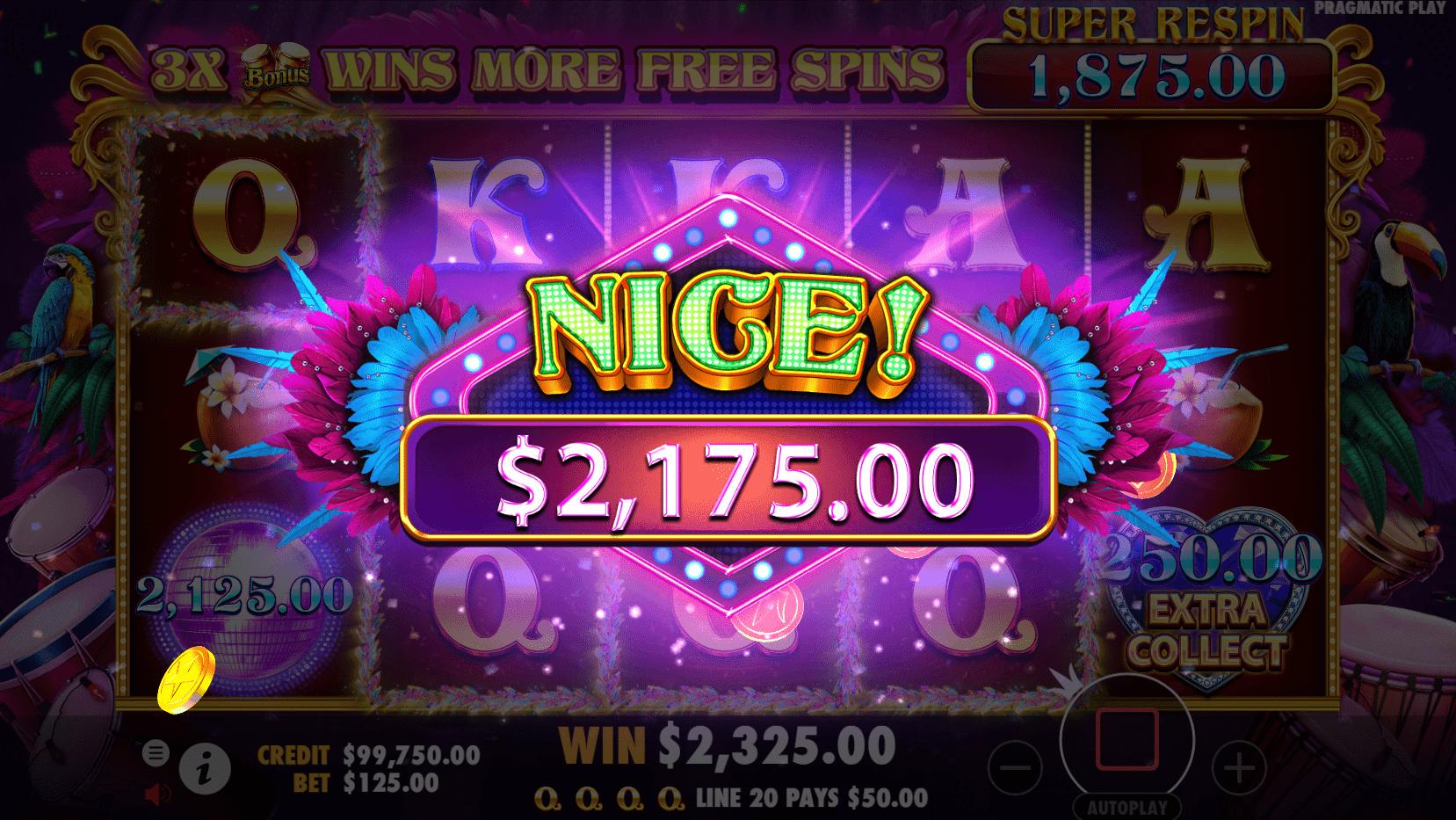Heart of Rio Slot Gameplay