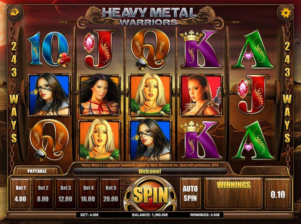 Heavy Metal Warriors online slots game logo