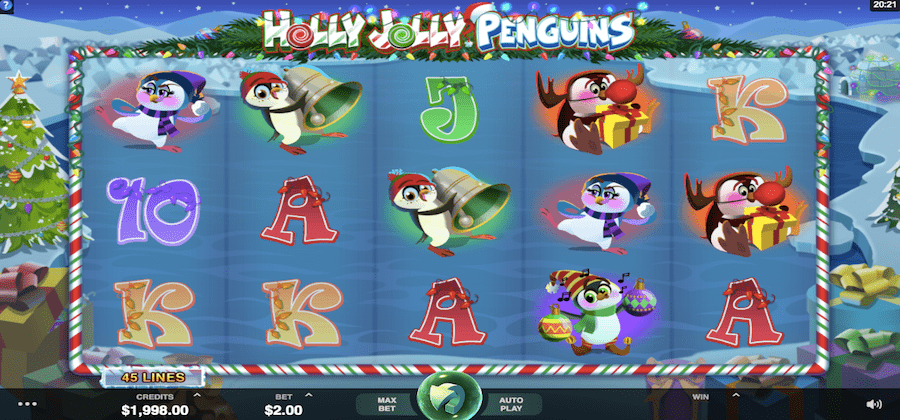 Holly Jolly Penguins Gameplay