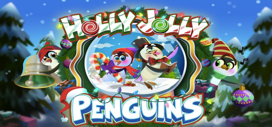 Holly Jolly Penguins Slots Game logo