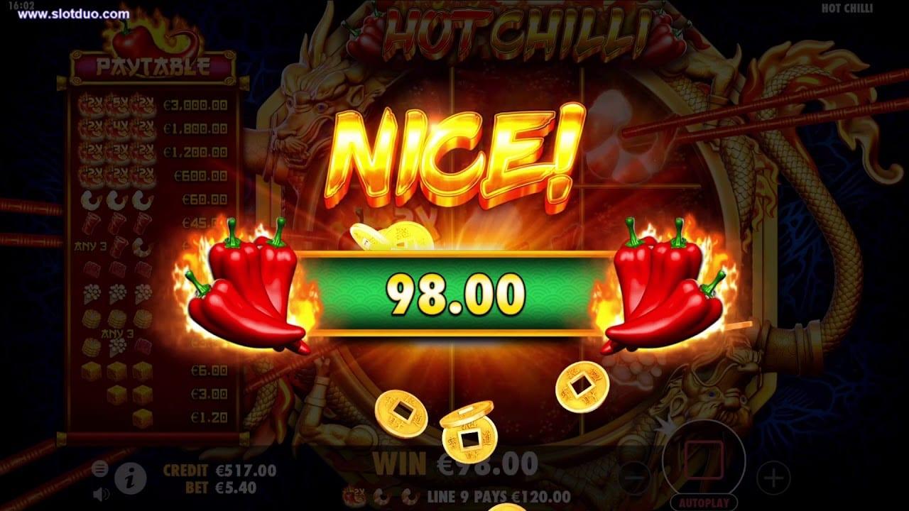 Hot Chilli Gameplay Casino