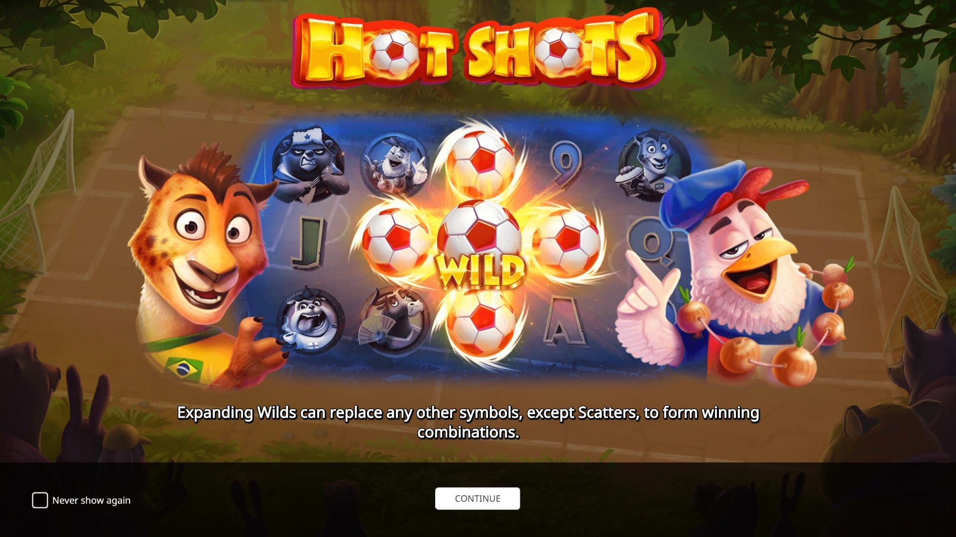 hot shots slots game logo