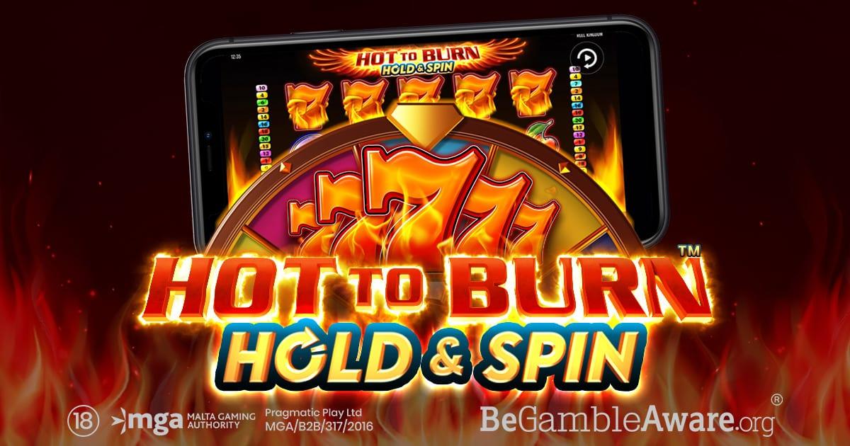 Hot to Burn Hold and Spin Slot Logo Wizard Slots