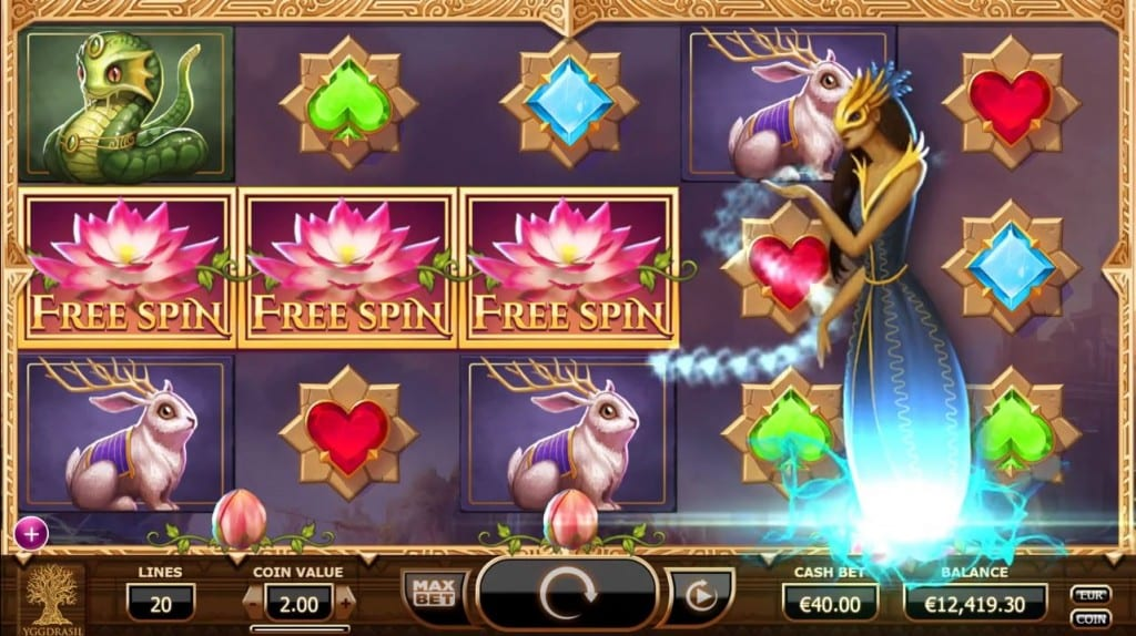 Nirvana online slots game gameplay